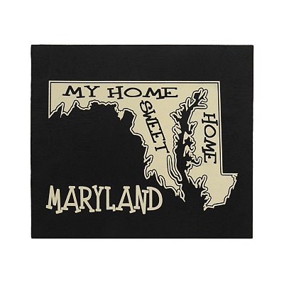 Maryland Home Sweet Home Plaque