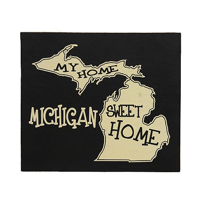 Michigan Home Sweet Home Plaque