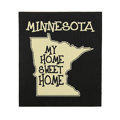 Minnesota Home Sweet Home Plaque