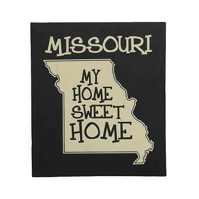 Missouri Home Sweet Home Plaque