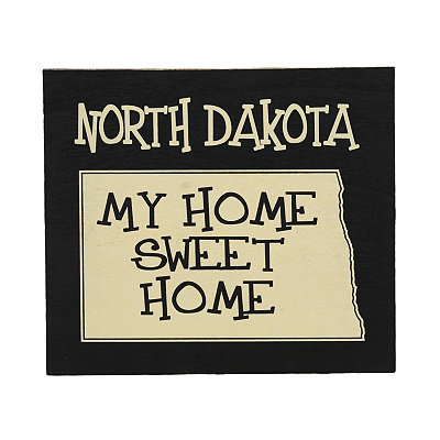 North Dakota Home Sweet Home Plaque