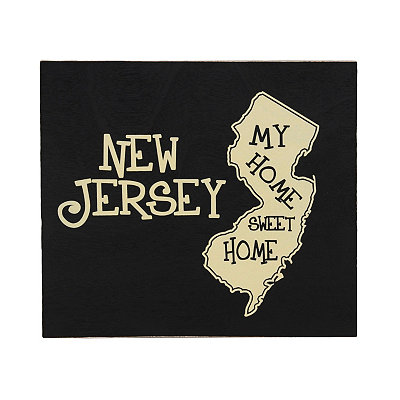 New Jersey Home Sweet Home Plaque