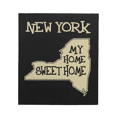New York Home Sweet Home Plaque