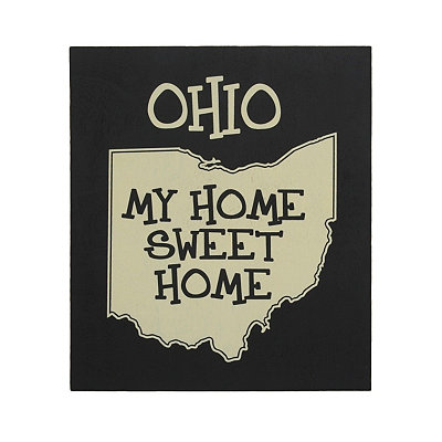 Ohio Home Sweet Home Plaque