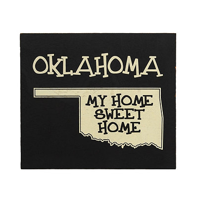 Oklahoma Home Sweet Home Plaque
