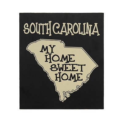 South Carolina Home Sweet Home Plaque