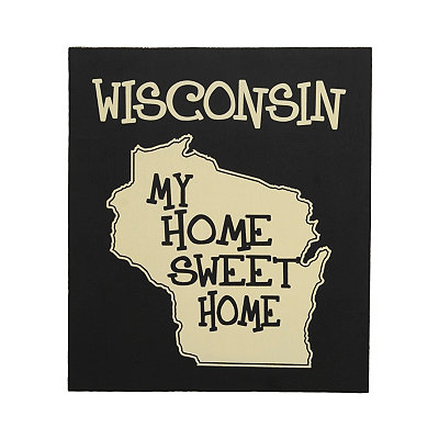 Wisconsin Home Sweet Home Plaque