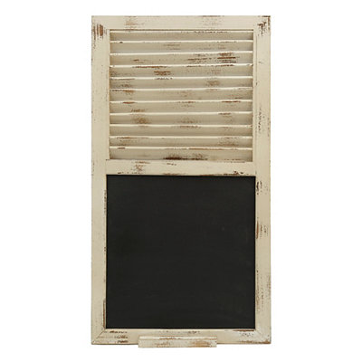 Distressed Cream Shutter Chalkboard