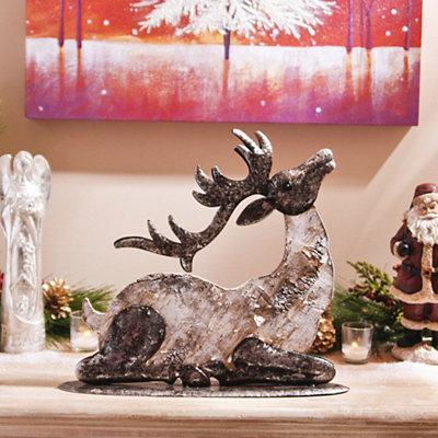 Silver Birch Reindeer Statue