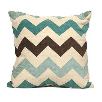 Blue Chevron Pillow