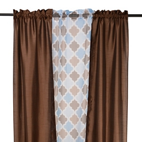 Brown Asher 3-pc. Curtain Panel Set, 84 in.