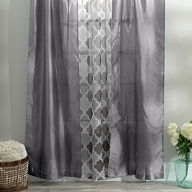 Silver Asher 3-pc. Curtain Panel Set, 84 in.