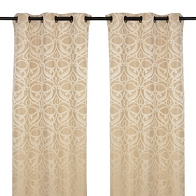 Tan Avondale Curtain Panel Set, 84 in.