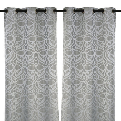 Silver Avondale Curtain Panel Set, 84 in.