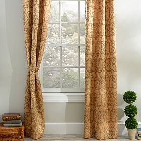 Gold Fontayne Curtain Panel Set, 84 in.