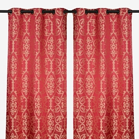 Red Fontayne Curtain Panel Set, 84 in.