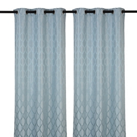 Blue Mercer Curtain Panel Set, 84 in.