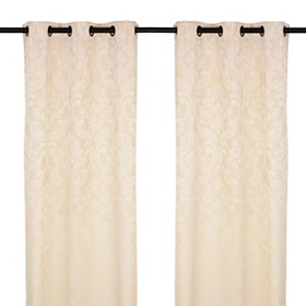 Sofia Cream Curtain Panel Set, 84 in.