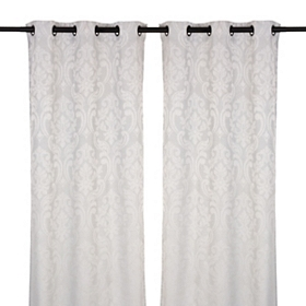Sofia Blue Curtain Panel Set, 84 in.