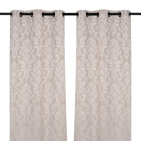 Sofia Taupe Curtain Panel Set, 84 in.