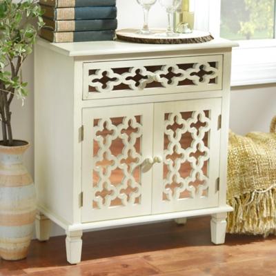 Antique White Clover Cabinet