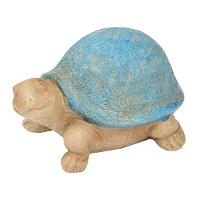 Blue Turtle Typography Statue