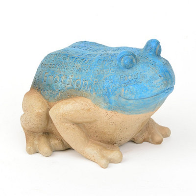 Blue Frog Typography Statue