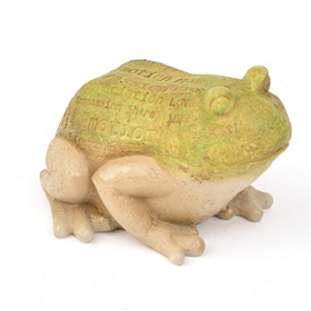 Green Frog Typography Statue