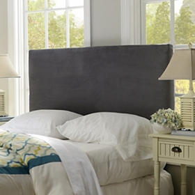 Charcoal Microsuede Queen Headboard