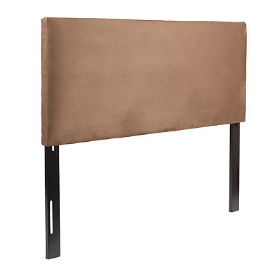 Chocolate Brown Microsuede Queen Headboard