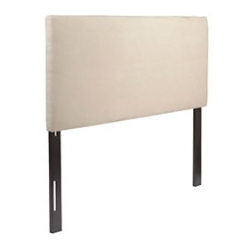 Oatmeal Microsuede Queen Headboard