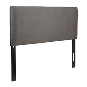 Charcoal Microsuede King Headboard
