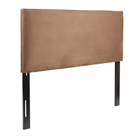 Chocolate Brown Microsuede King Headboard