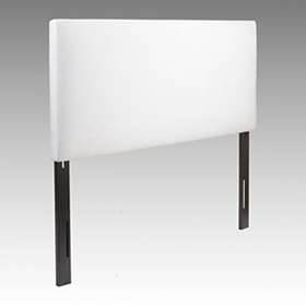 White Microsuede King Headboard