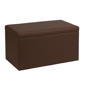 Chevron Espresso Storage Bench