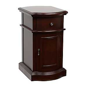 Brown Curved Side Table