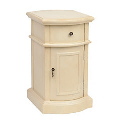 Ivory Curved Side Table