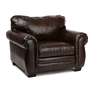 Panama Espresso Bonded Leather Arm Chair