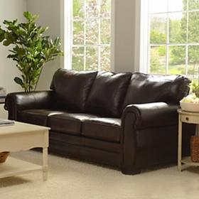 Panama Espresso Bonded Leather Sofa