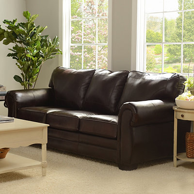 Panama Espresso Bonded Leather Sofa
