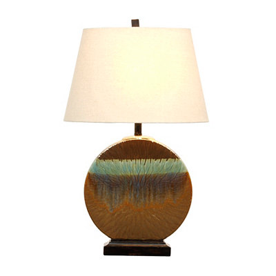 Oval Drip Table Lamp