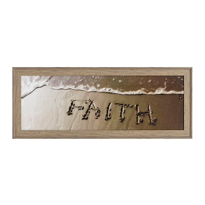 Faith Coastal Framed Art Print