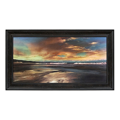 Galaxy Beach Framed Art Print
