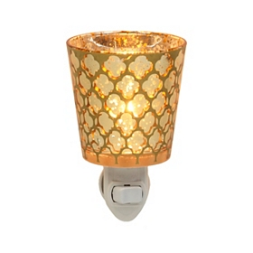 Gold Quatrefoil Night Light