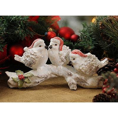 Snow Birds on a Branch Statue