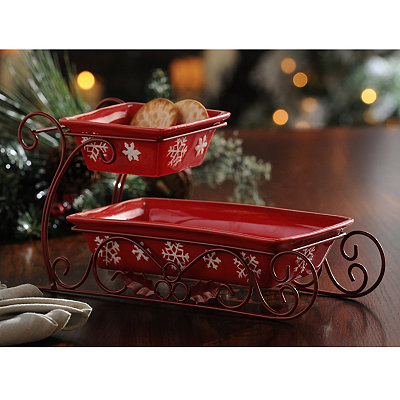 Red Christmas Serving Sleigh