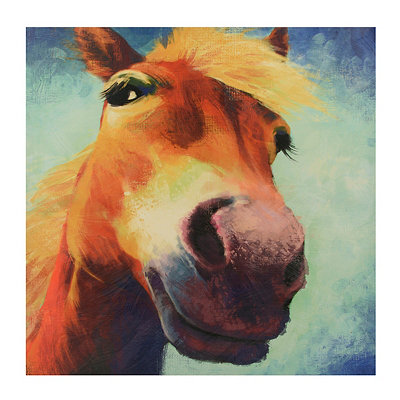 Mr. Ed Up Close & Personal Canvas Art Print