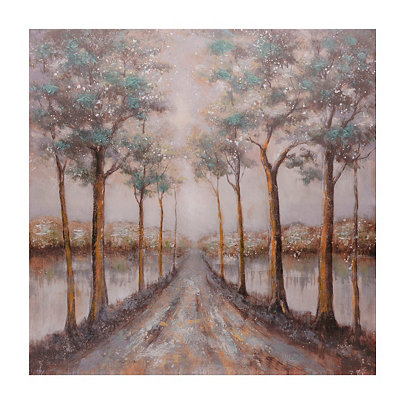 Blue Road Canvas Art Print