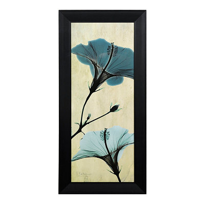 Blue Hibiscus X-Ray Framed Art Print