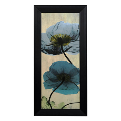 Blue Poppy X-Ray Framed Art Print